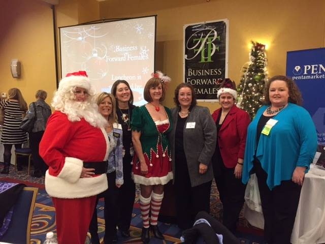 Corridor Nine Business Forward Females Holiday Event 2014