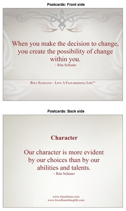 Character  / The Decision to Change